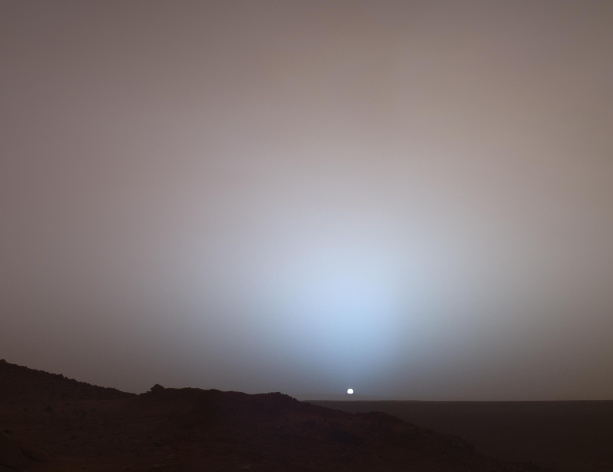 sunset on mars nasa -#main
