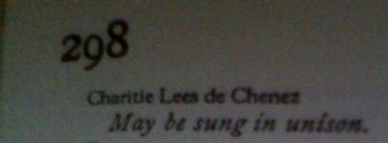 Charitie Lees de Chenez Hymnal 1933