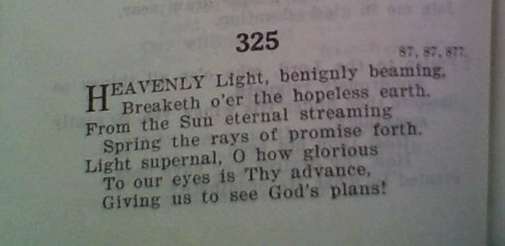 Heavenly Light, Beningnly Beaming