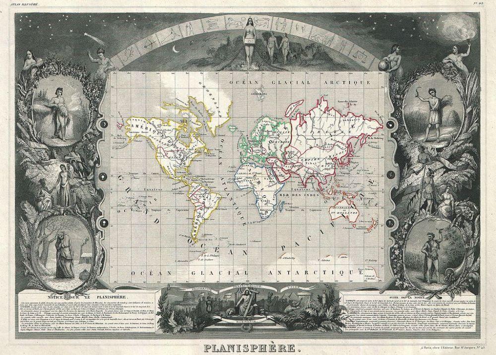 World Map 1847