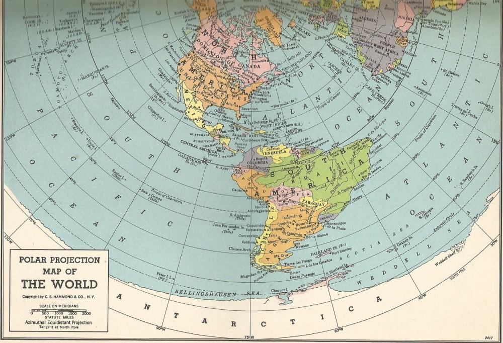 Polar Projection 1951 Beta