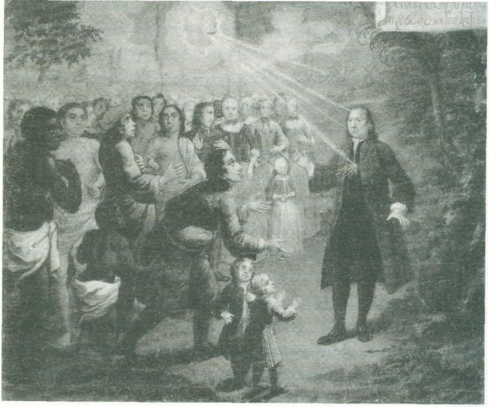 Zinzendorf Preaching
