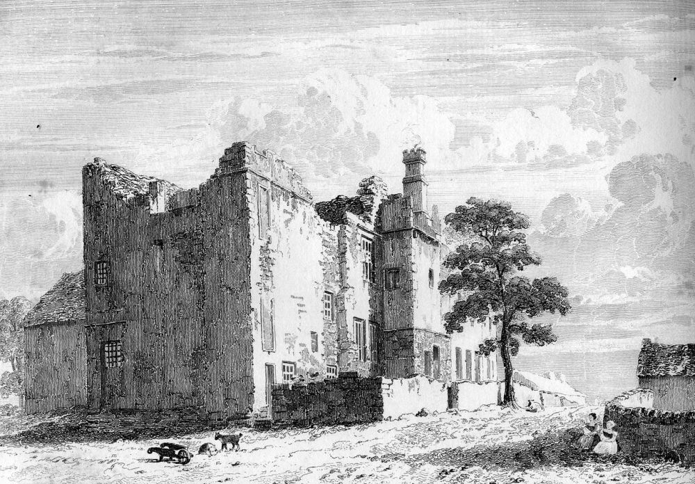 Ruins of Sheffield Manor, 1819