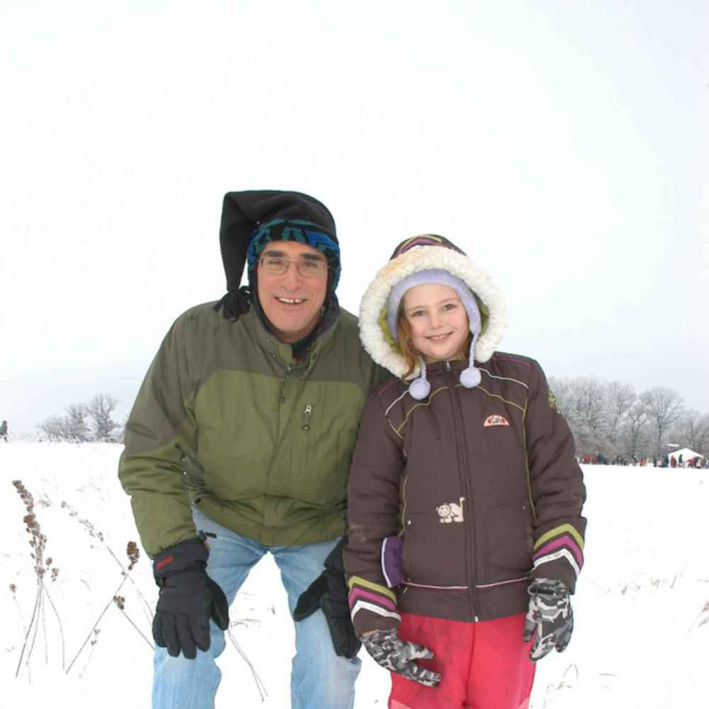 Father and Daughter in Winter